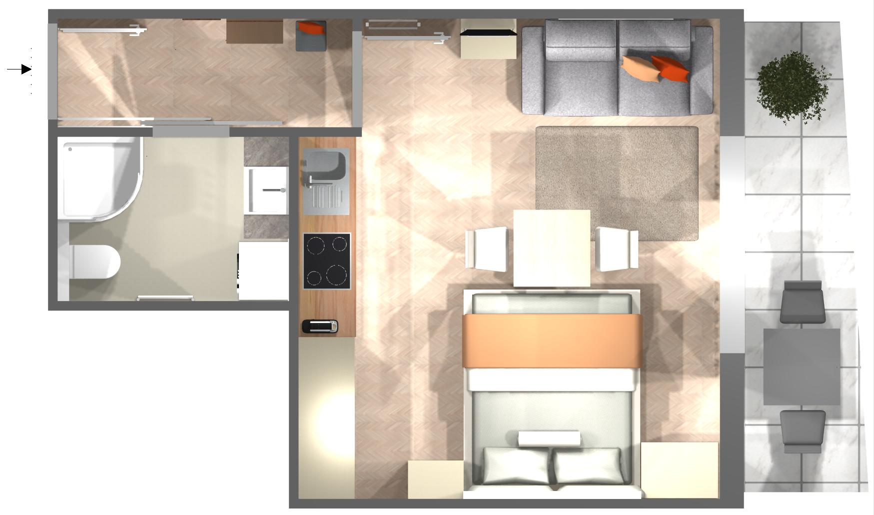 Appartement AUSTRIA - Grundriss
