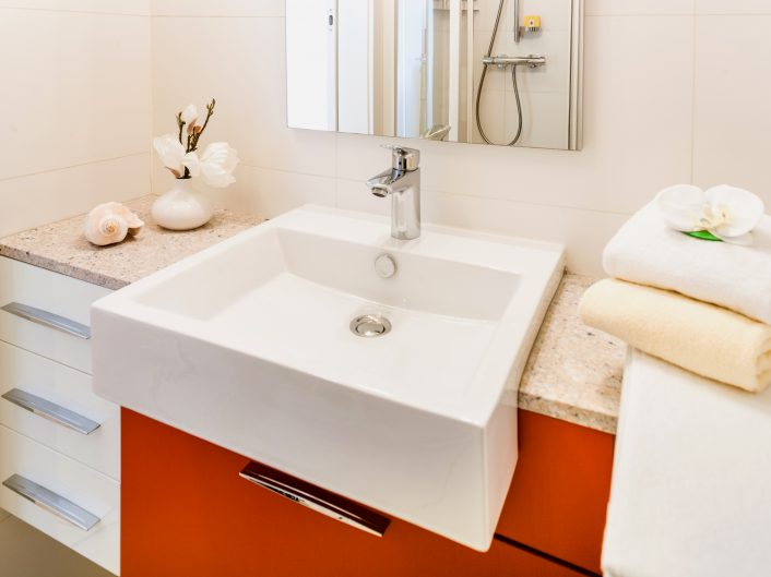 Appartement Graz: Badezimmer