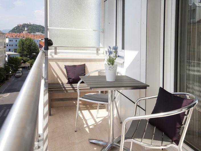 Graz Appartement: Appartement Business - Balkon