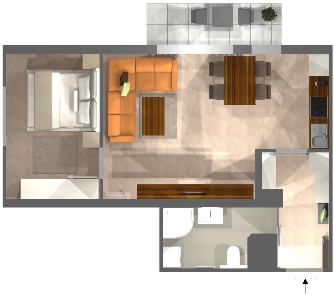 Appartement Deluxe: Grundriss