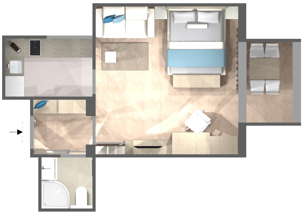 Appartement Mare: Grundriss