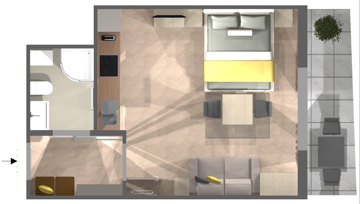 Appartement Nova: Grundriss
