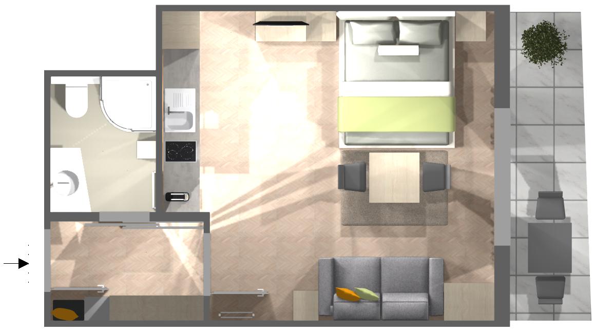Appartement Styria - Grundriss